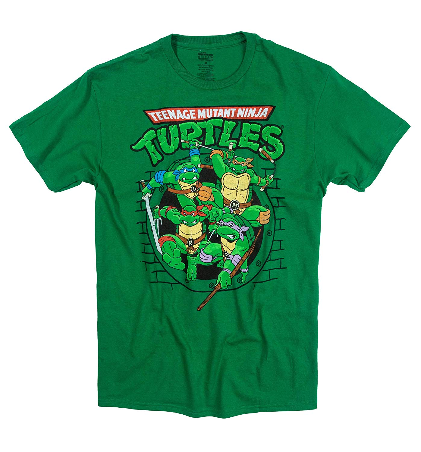 Teenage Mutant Ninja Turtles Ready for Action Green T-Shirt Large