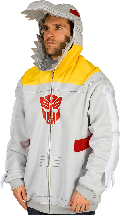Transformers Grimlock Costume Hoodie Gray Officially Licensed Medium