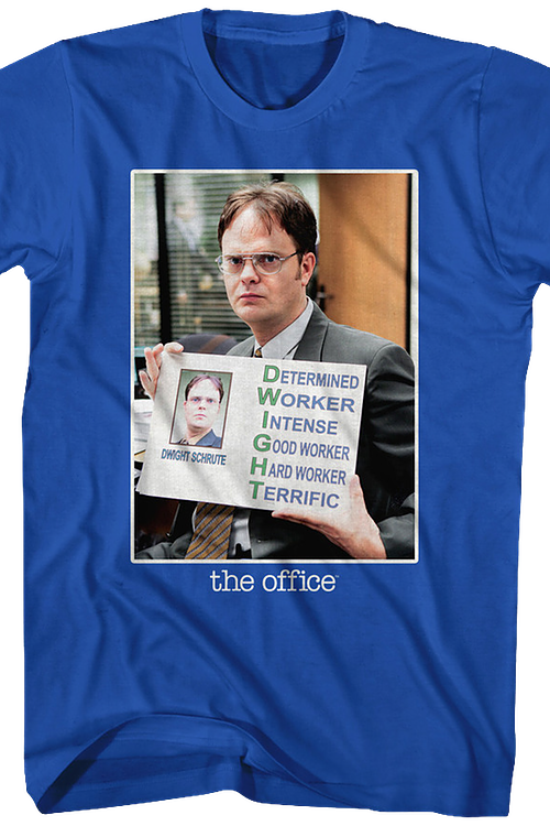 The Office Meaning Of Dwight Schrute Officially Licensed Blue T-Shirt 2X-Large