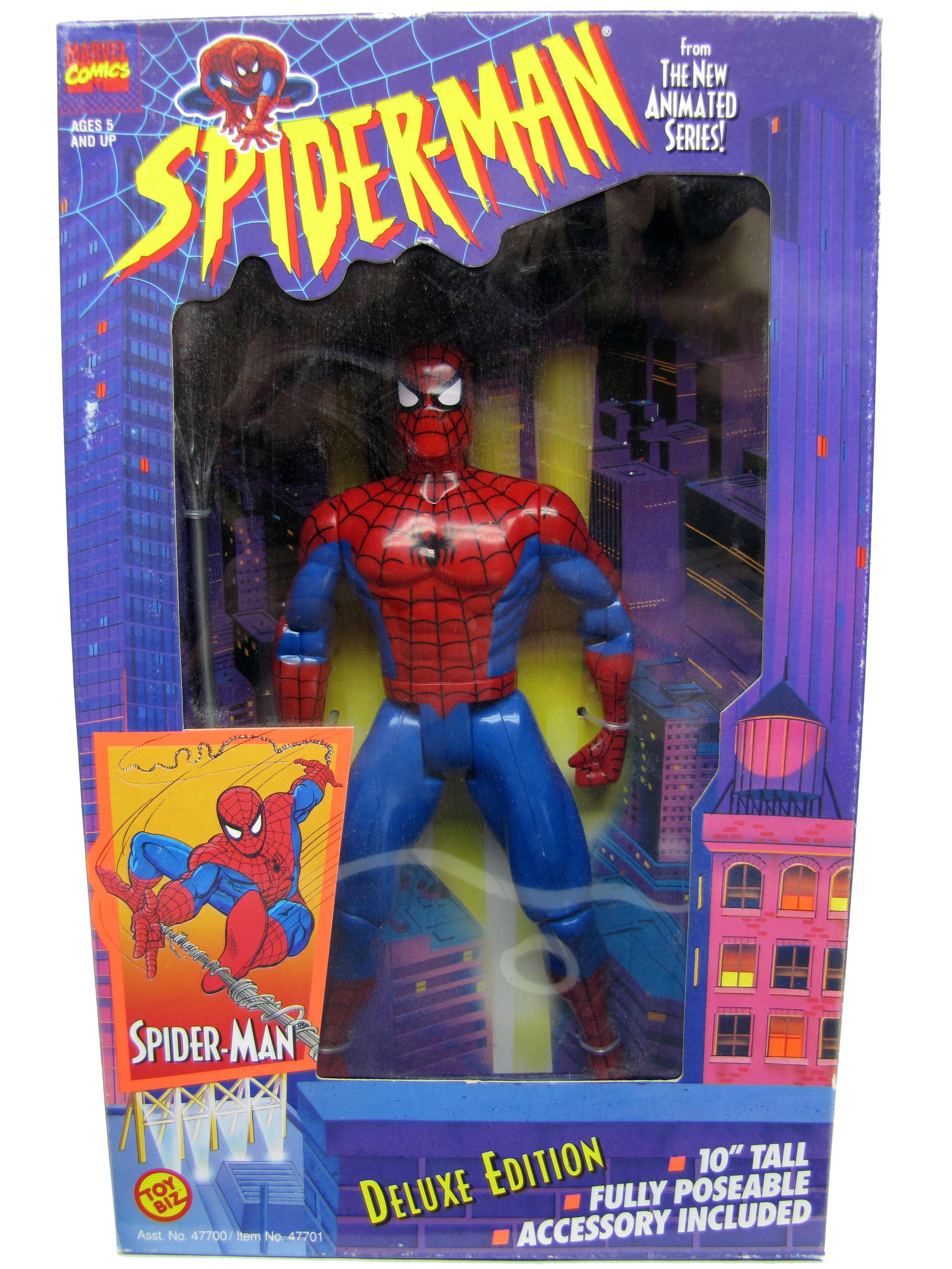 "Spider-Man Animated Series 10"" Deluxe Spider-Man Sealed"