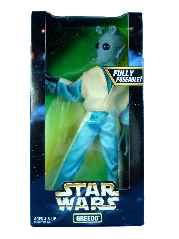 "Star Wars POTF2 12"" A New Hope Greedo Clear Window Box Sealed"
