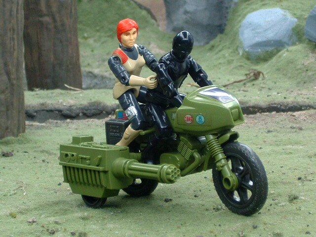 1982 GIJoe R.A.M. Rapid Fire Motorcycle Complete