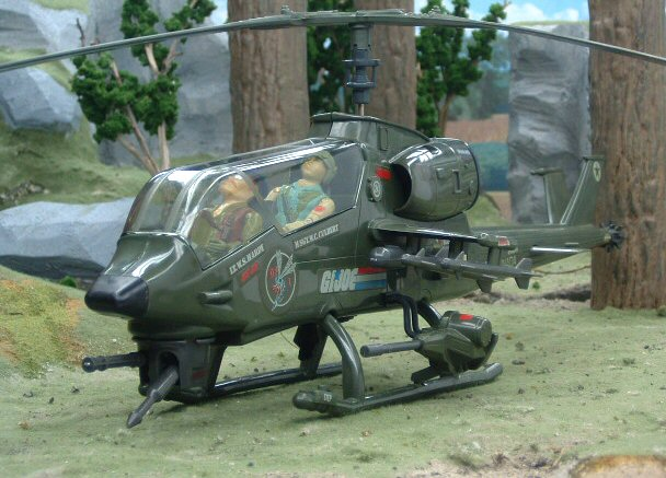 1983 GIJoe Dragonfly XH-1 with Wild Bill Complete