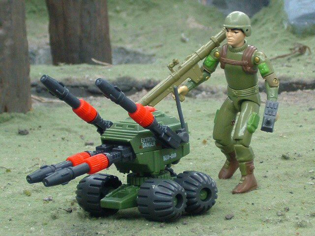 1983 GIJoe PAC RAT Machine Gun Complete
