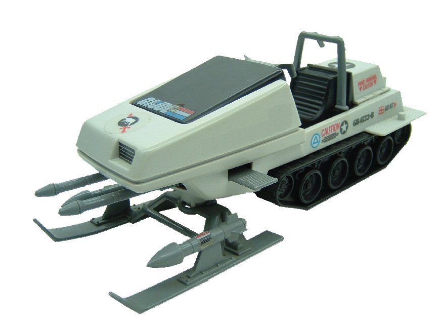 1983 GIJoe Polar Battle Bear Skimobile Complete
