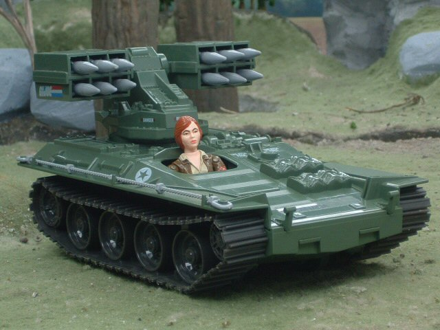 1983 GIJoe Wolverine Armored Missile Vehicle Cover Girl Complete