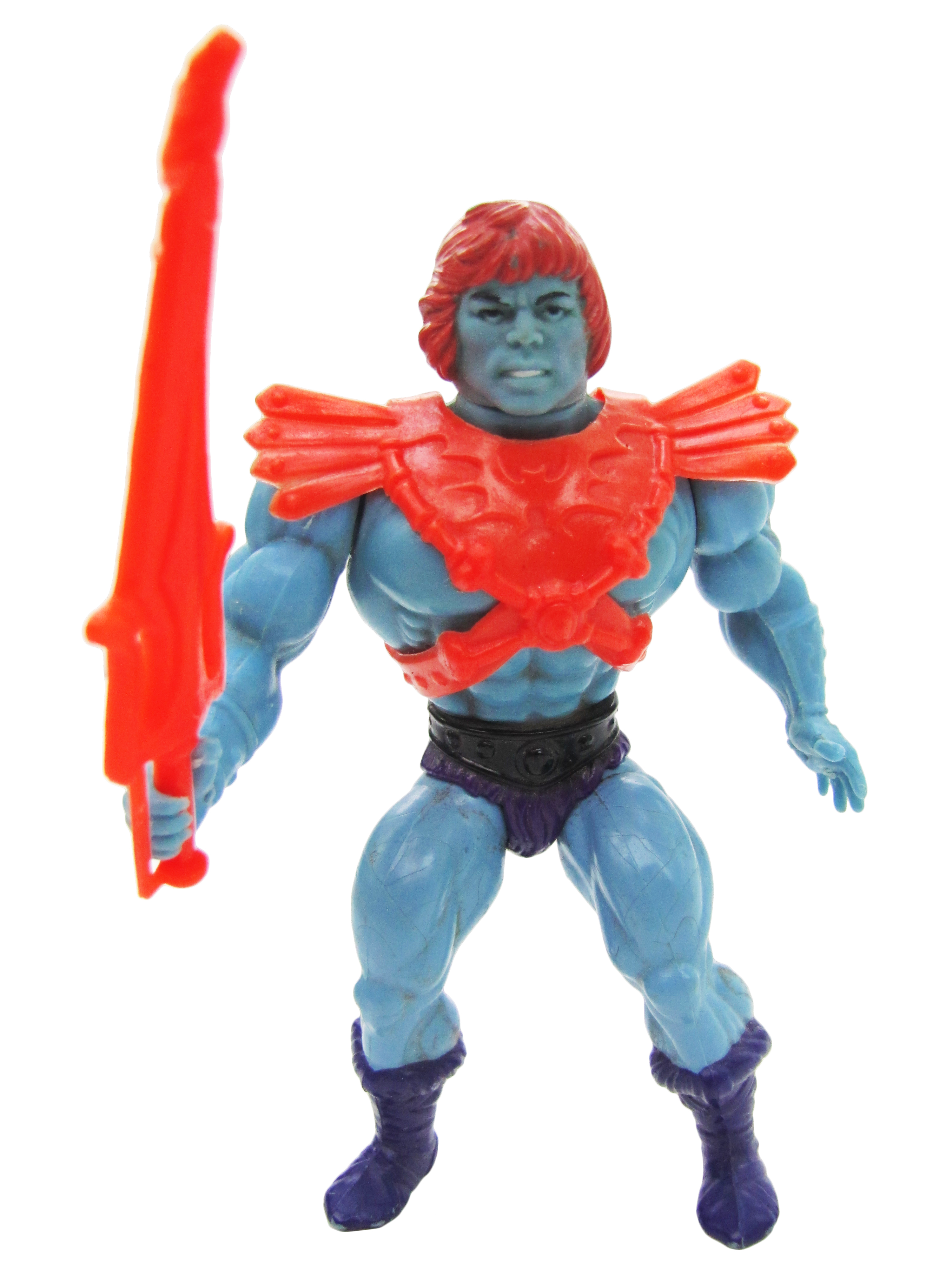 1983 MOTU Masters of the Universe FAKER EVIL ROBOT Complete Soft Head Near Mint