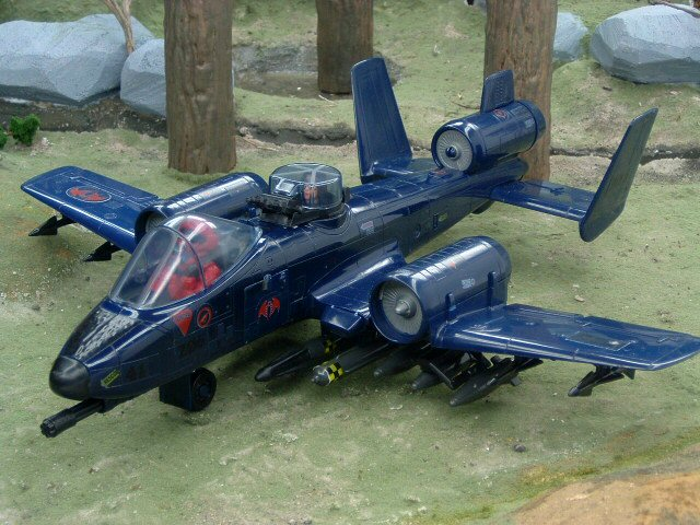 1984 Cobra Rattler Ground Attack Jet with Wild Weasel Complete