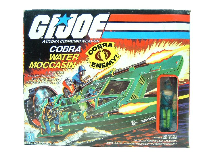 1984 GIJoe Cobra Water Moccasin with Copperhead Complete