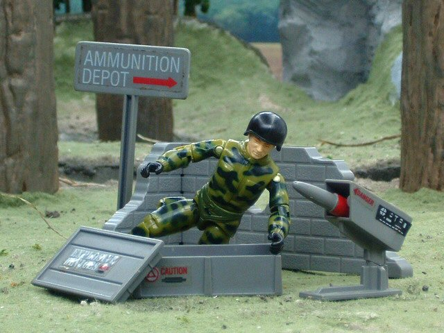 1984 GIJoe Missile Defense Unit Battlefield Accessories Complete