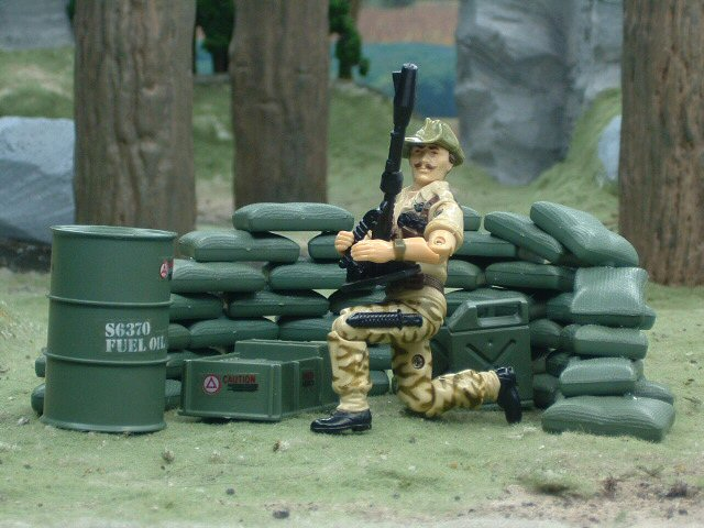 1984 GIJoe Mortar Defense Unit Battlefield Accessories Complete