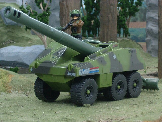 1984 GIJoe Slugger Self Propelled Cannon with Thunder Complete