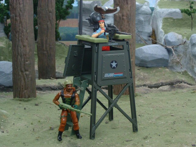 1984 GIJoe Watch Tower Battle Station Complete