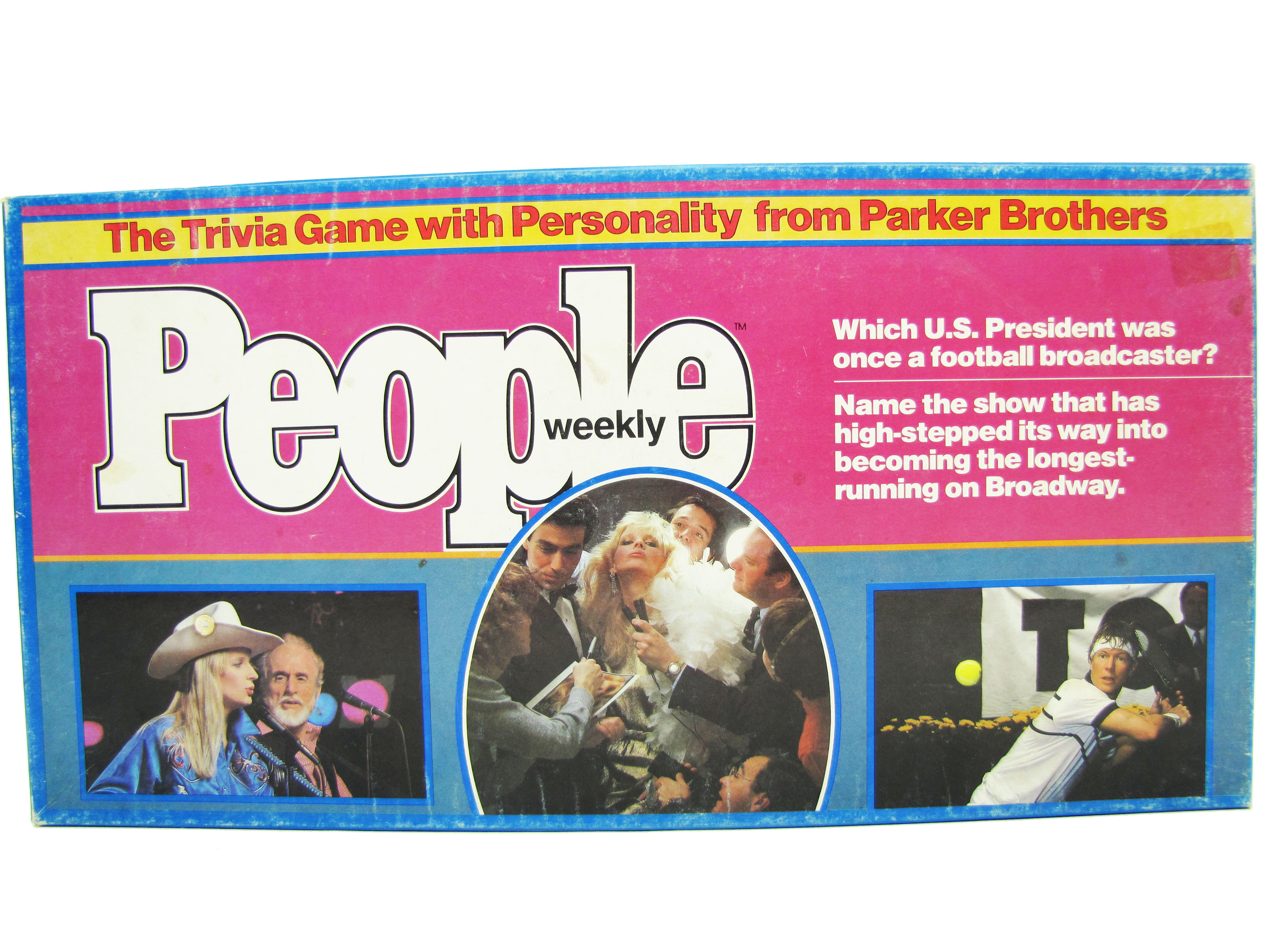 1984 Parker Brothers People Weekly Trivia Game Board Game Comple