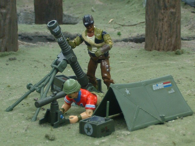 1985 GIJoe Forward Observer Unit Battlefield Accessories Complet