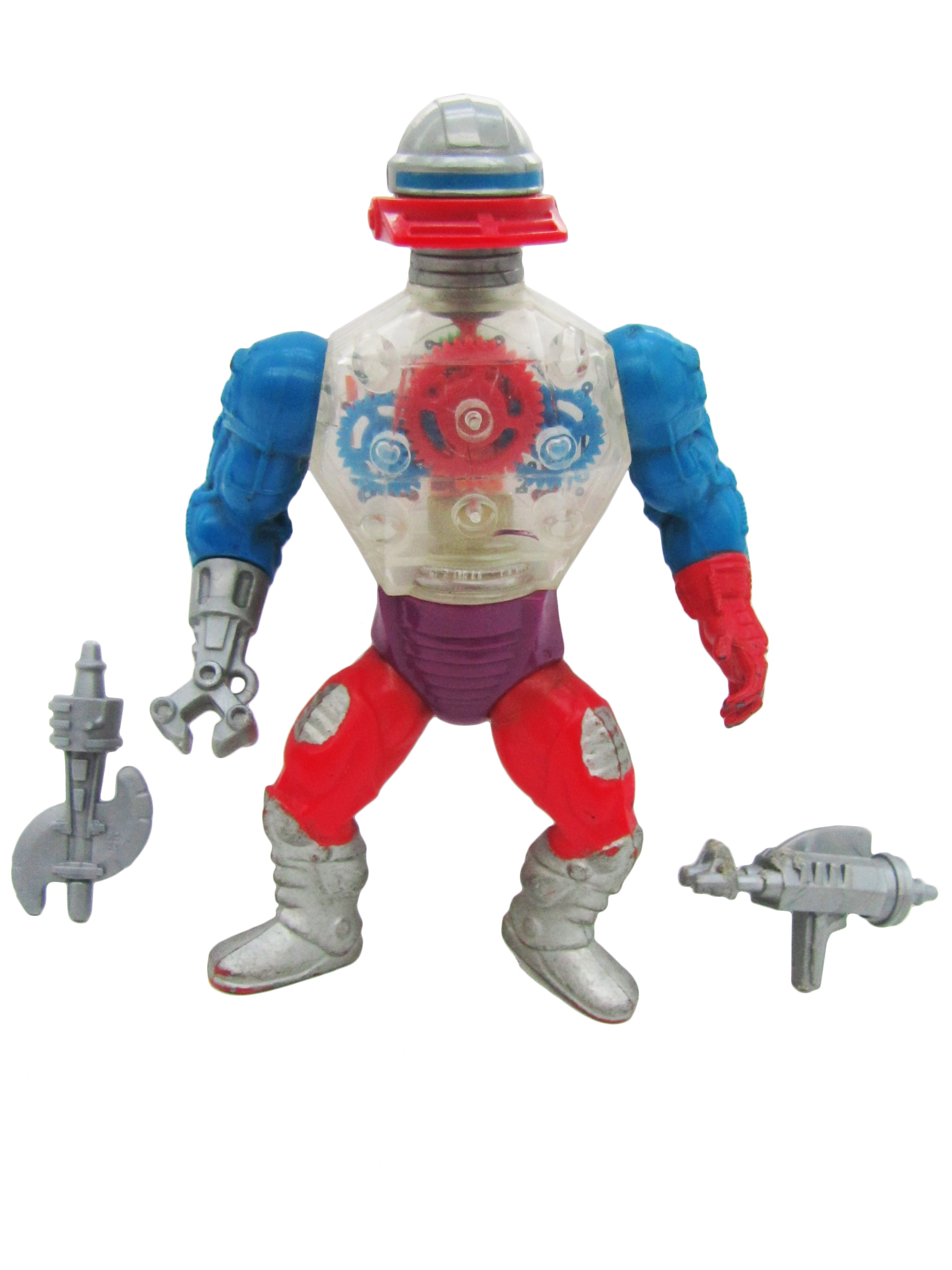 1985 MOTU Masters of the Universe ROBOTO HEROIC MECHANICAL WARRIOR Complete NM
