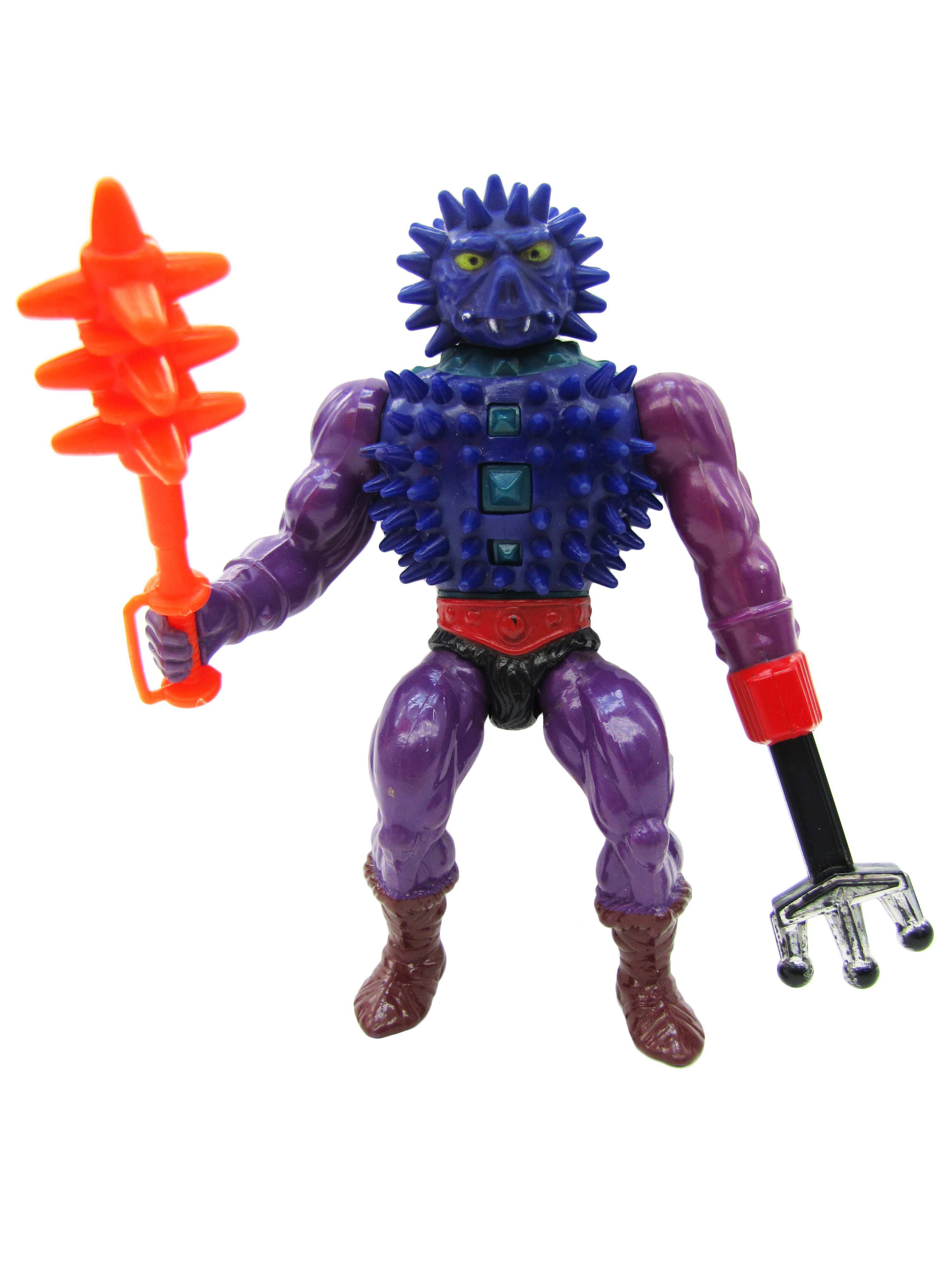 1985 MOTU Masters of the Universe SPIKOR EVIL COMBAT MASTER Complete Near Mint