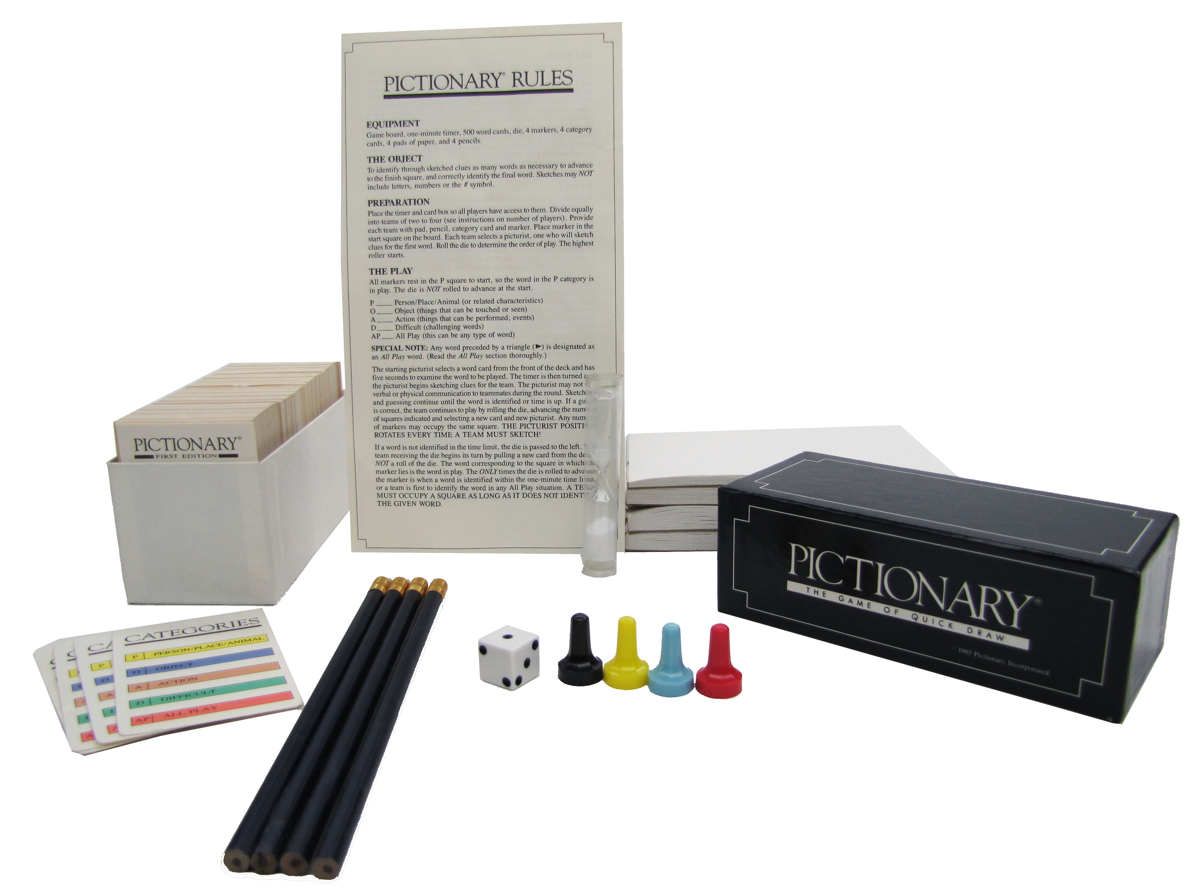 1985 Milton Bradley Pictionary The Game of Quick Draw Complete