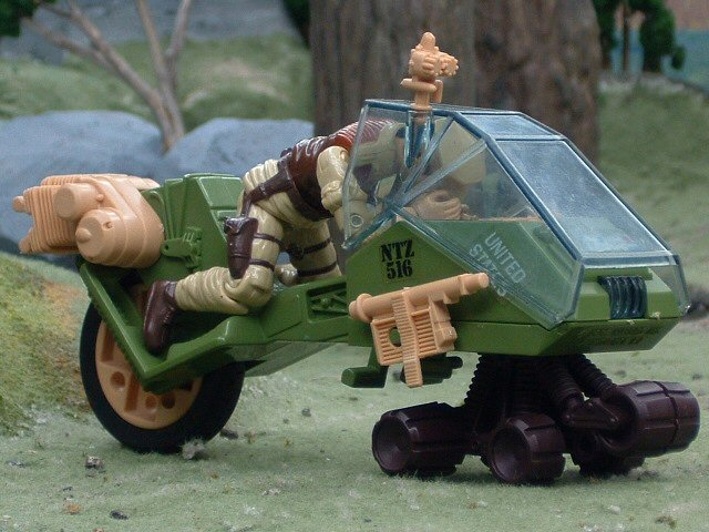 1986 GIJoe L.C.V. Recon Sled Low Crawl Vehicle Complete