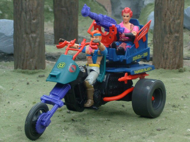 1987 GIJoe Cobra Dreadnok Cycle Complete
