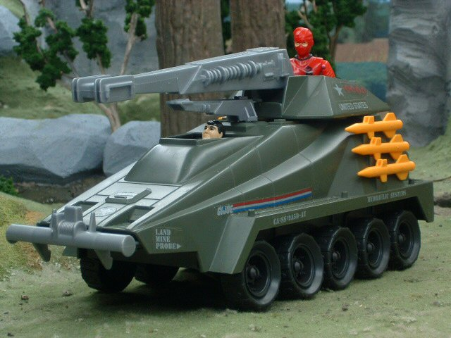 1987 GIJoe Persuader with Backstop Complete
