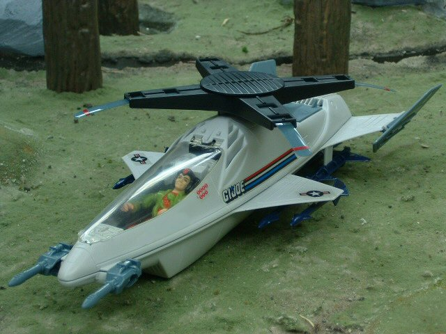 1988 GIJoe Skystorm X-Wing Chopper with Windmill Complete