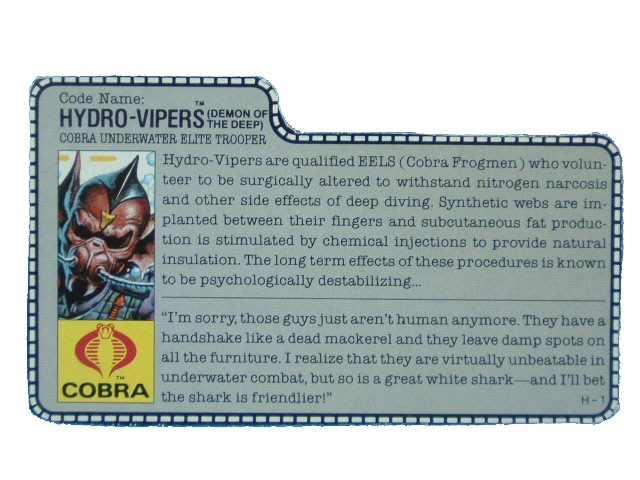 1988 GIJoe Cobra Hydro-Viper COBRA UNDERWATER ELITE TROOPER File