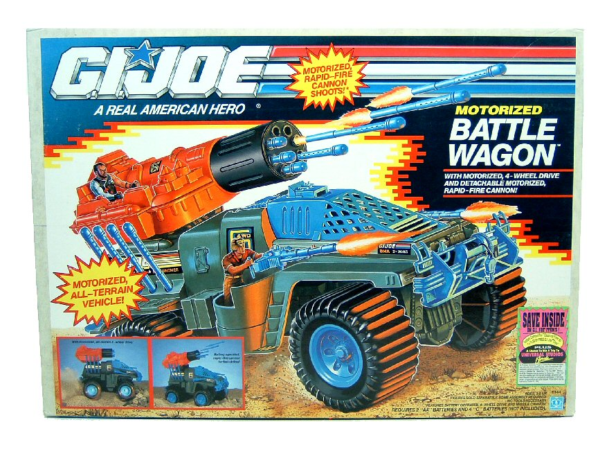 1991 GIJoe Motorized Battle Wagon Complete