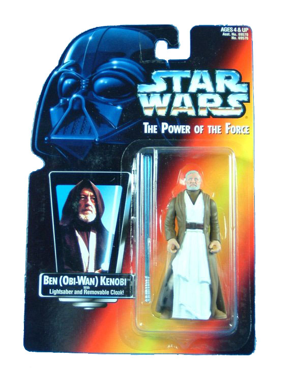 1995 Star Wars POTF2 OBI-WAN (BEN) KENOBI Red Card