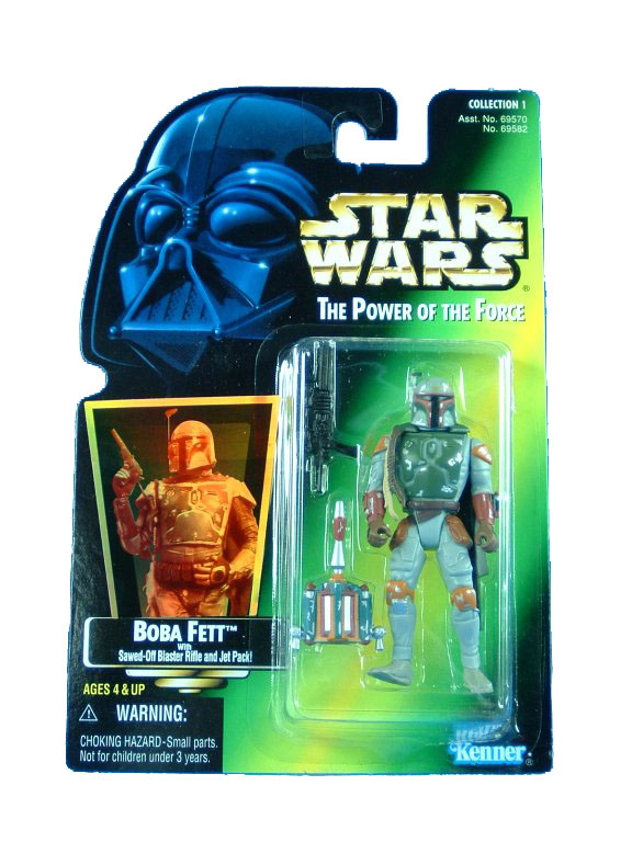 1995 Star Wars POTF2 BOBA FETT Green Card