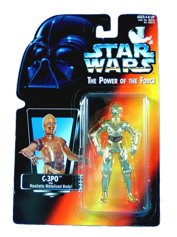 1995 Star Wars POTF2 C-3PO Red Card