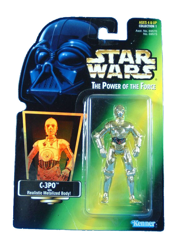1995 Star Wars POTF2 C-3PO Green Card