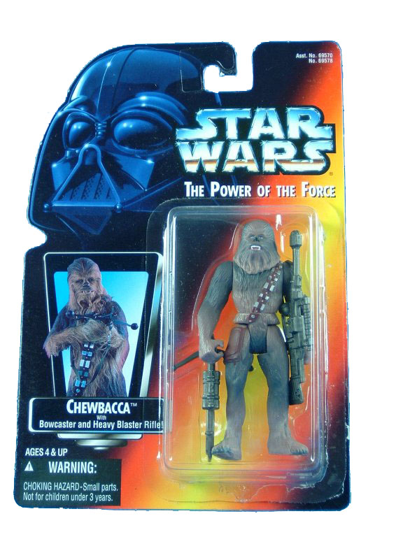 1995 Star Wars POTF2 CHEWBACCA Red Card