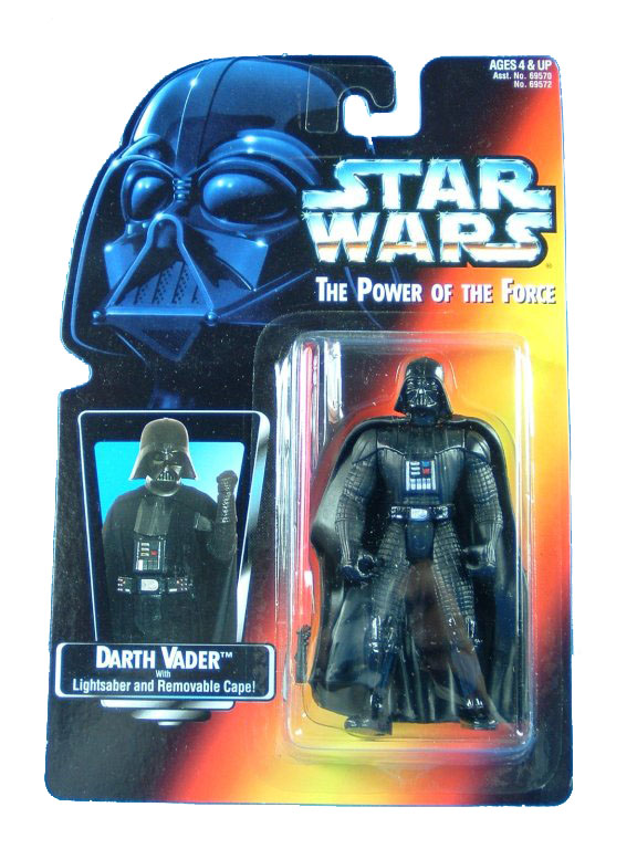 1995 Star Wars POTF2 DARTH VADER Red Card