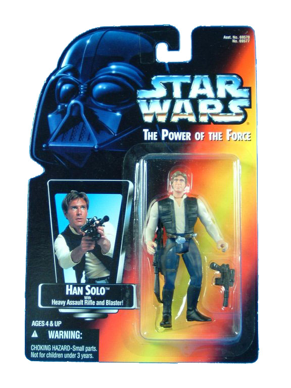 1995 Star Wars POTF2 HAN SOLO Red Card