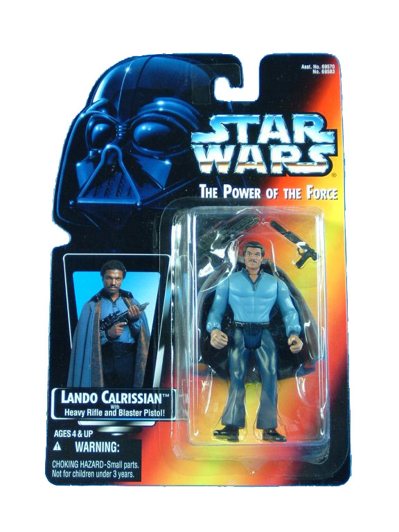 1995 Star Wars POTF2 LANDON CALRISSIAN Red Card