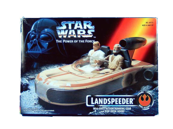 1995 Star Wars POTF2 LANDSPEEDER in Sealed Box