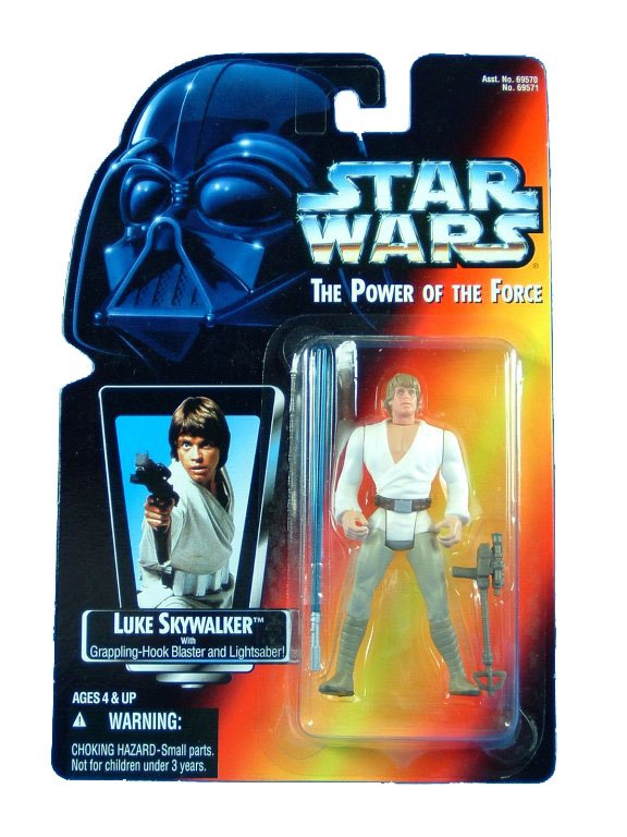 1995 Star Wars POTF2 LUKE SKYWALKER Red Card