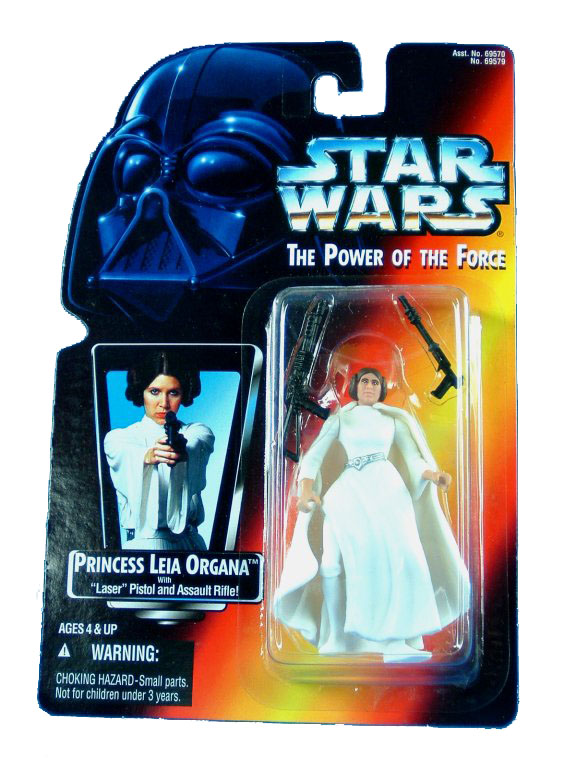 1995 Star Wars POTF2 PRINCESS LEIA ORGANA Red Card