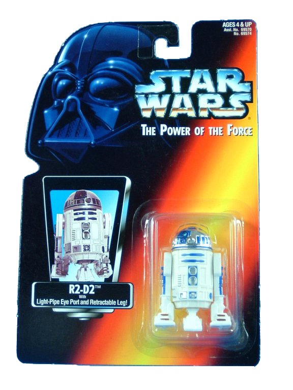 1995 Star Wars POTF2 R2-D2 Red Card