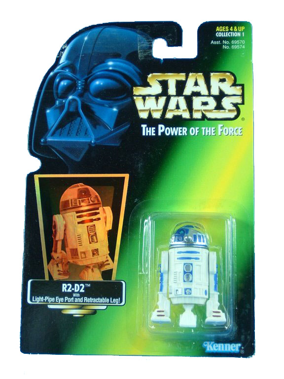1995 Star Wars POTF2 R2-D2 Green Card
