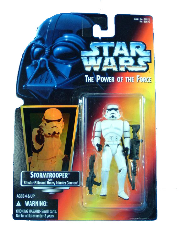 1995 Star Wars POTF2 STORMTROOPER Hologram Red Card