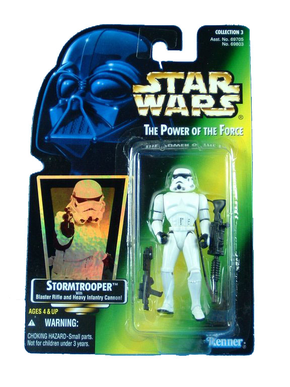 1995 Star Wars POTF2 STORMTROOPER Green Card Complete