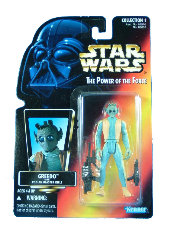 1996 Star Wars POTF2 GREEDO Complete