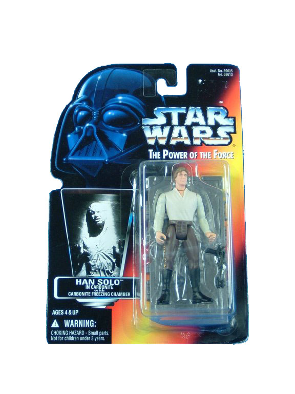 1996 Star Wars POTF2 HAN SOLO In CARBONITE Complete