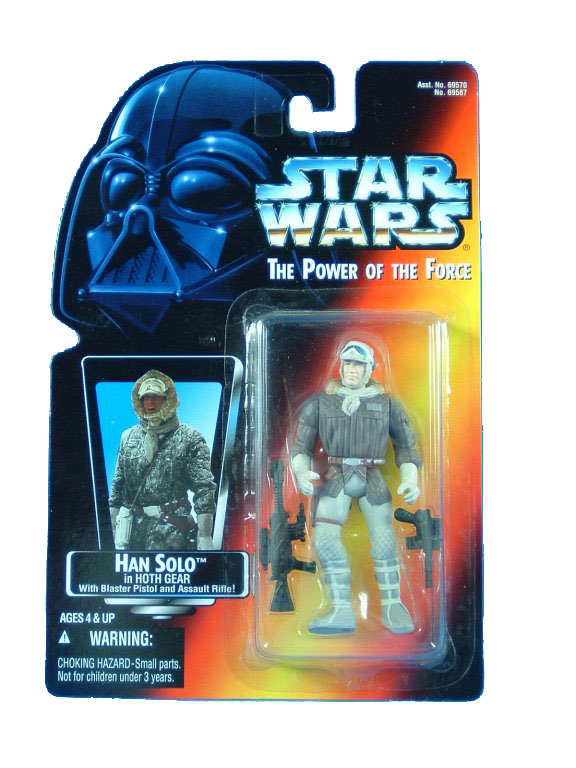 1996 Star Wars POTF2 HAN SOLO HOTH GEAR Complete