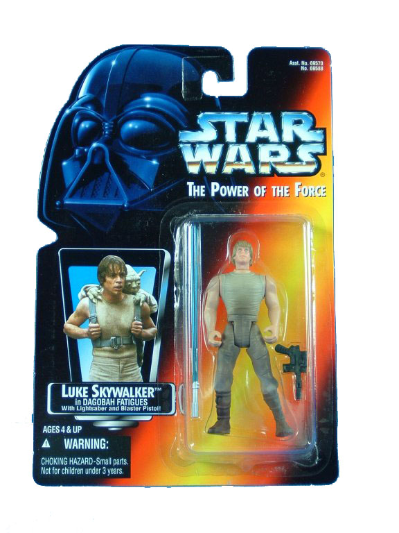 1996 Star Wars POTF2 LUKE SKYWALKER DAGOBAH FATIGUES Long Comple