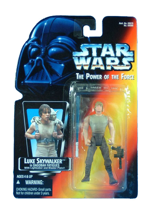 1996 Star Wars POTF2 LUKE SKYWALKER DAGOBAH FATIGUES Complete