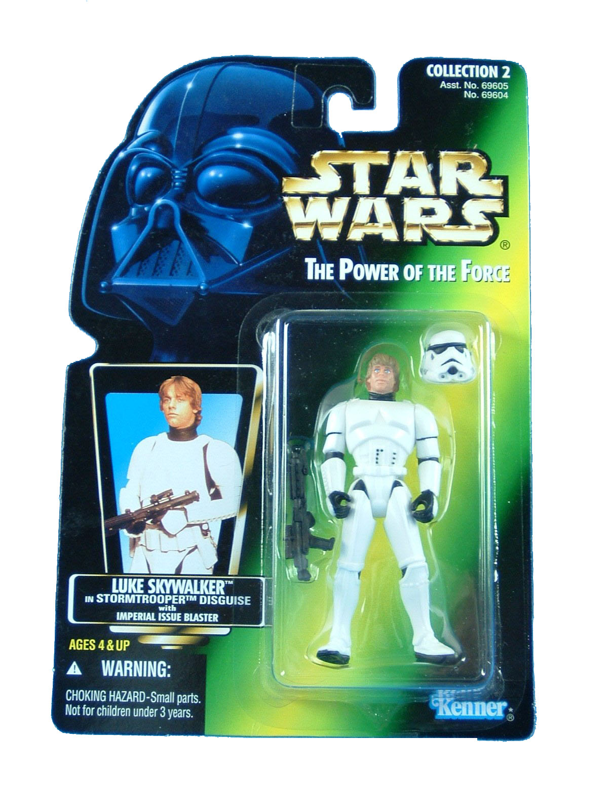 1996 Star Wars POTF2 LUKE SKYWALKER Stormtrooper Green Complete