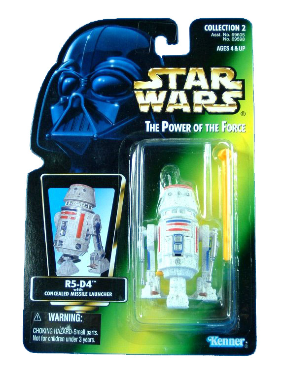1996 Star Wars POTF2 R5-D4 Green Card Complete